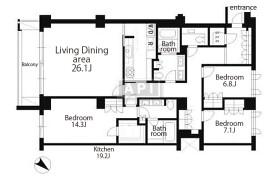 港区六本木-3LDK公寓