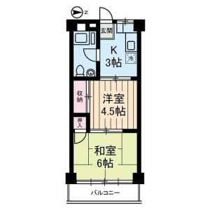 2K Mansion in Sakuragaoka - Setagaya-ku Floorplan