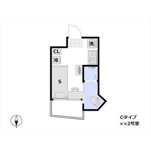 1R Mansion in Yamabukicho - Shinjuku-ku Floorplan
