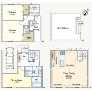 2LDK {building type} in Kitashinagawa(1-4-chome) - Shinagawa-ku Floorplan