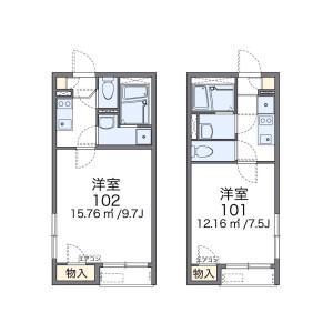 1K Apartment in Sakura - Setagaya-ku Floorplan