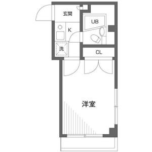 1K Mansion in Tokiwadai - Itabashi-ku Floorplan