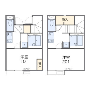 1K Apartment in Tsutsui - Nagoya-shi Higashi-ku Floorplan
