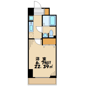 1K Mansion in Kamata - Ota-ku Floorplan
