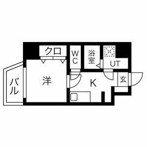 1K Mansion in Ikunohigashi - Osaka-shi Ikuno-ku Floorplan