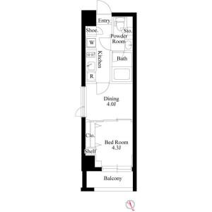 2K Mansion in Higashiikebukuro - Toshima-ku Floorplan
