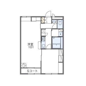1LDK Apartment in Shimmachi - Shiki-gun Tawaramoto-cho Floorplan