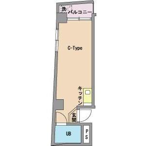 1R Mansion in Sendagi - Bunkyo-ku Floorplan