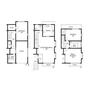 3LDK House in Minamiazabu - Minato-ku Floorplan