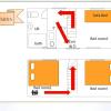 1DK House to Rent in Minato-ku Floorplan