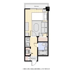 1R Mansion in Chitose - Sumida-ku Floorplan
