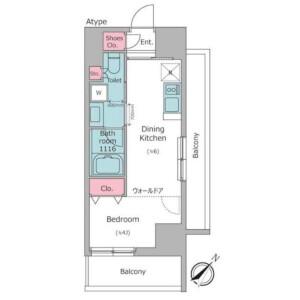 1DK Apartment in Nakane - Meguro-ku Floorplan