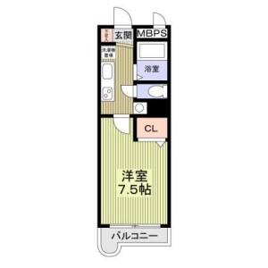 1K Mansion in Shimokodanaka - Kawasaki-shi Nakahara-ku Floorplan