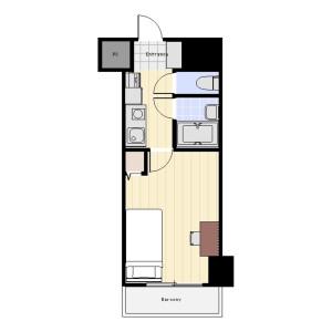 中央区築地-1K公寓大厦 楼层布局