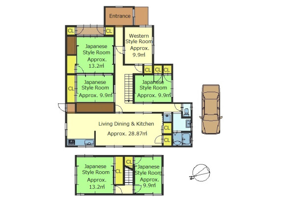 6LDK House to Buy in Otsu-shi Floorplan
