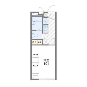 松戸市和名ケ谷-1K公寓 楼层布局