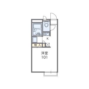 1K Apartment in Uzumasa ichinoicho - Kyoto-shi Ukyo-ku Floorplan