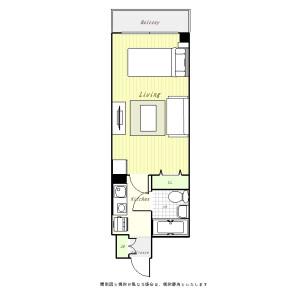 1K Mansion in Uchikoshimachi - Hachioji-shi Floorplan
