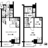 1LDK Apartment to Rent in Chiyoda-ku Floorplan