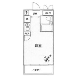 1R Mansion in Fukuei - Ichikawa-shi Floorplan