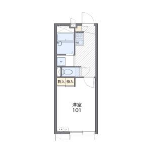 1K Apartment in Kurokami - Kumamoto-shi Floorplan