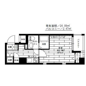 1K Mansion in Ikebukuro (2-4-chome) - Toshima-ku Floorplan