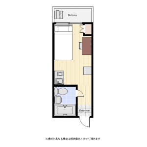 涩谷区代々木-1R公寓大厦 楼层布局