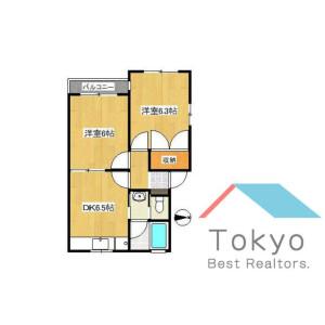 2DK Apartment in Kitashinjuku - Shinjuku-ku Floorplan