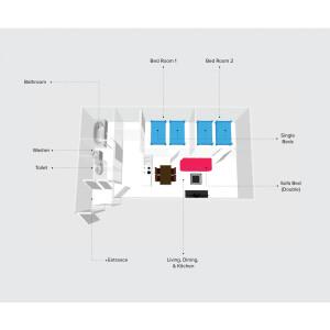 2LDK Mansion in Kita14-jonishi(1-4-chome) - Sapporo-shi Kita-ku Floorplan