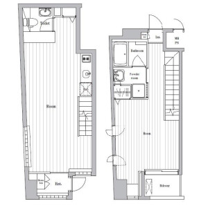 1LDK Mansion in Shinkawa - Chuo-ku Floorplan