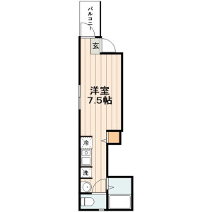 1R Apartment in Nishiogu - Arakawa-ku Floorplan