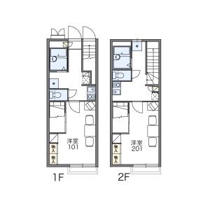 1K Apartment in Biwajima - Nagoya-shi Nishi-ku Floorplan