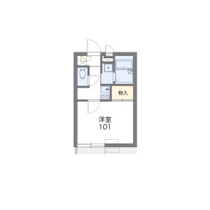 1K Apartment in Ohara - Setagaya-ku Floorplan