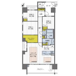 3LDK {building type} in Senriyama takezono - Suita-shi Floorplan