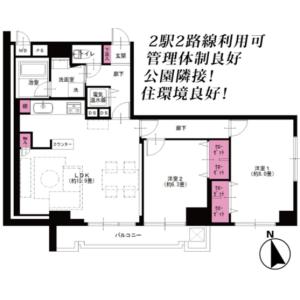 2LDK {building type} in Nakadai - Itabashi-ku Floorplan