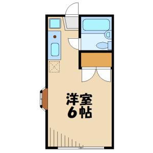 1K Apartment in Fujigaoka - Yokohama-shi Aoba-ku Floorplan