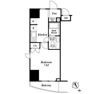 豊島區南大塚-1K公寓大廈 房間格局