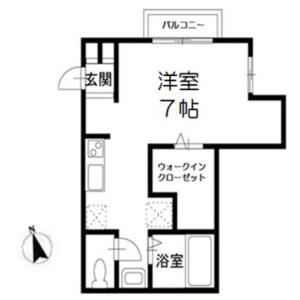 船橋市 坪井東 1R アパート 間取り