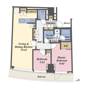 2LDK Apartment in Minamiaoyama - Minato-ku Floorplan