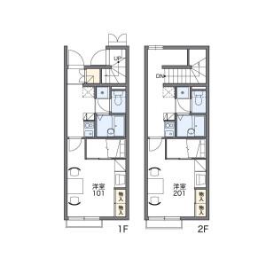 1K Apartment in Umada - Kanzaki-gun Fukusaki-cho Floorplan