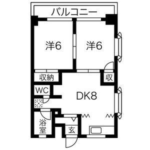 2DK Mansion in Tashiden - Daito-shi Floorplan
