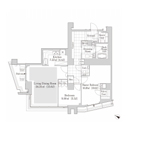 2LDK Mansion in Jinnan - Shibuya-ku Floorplan