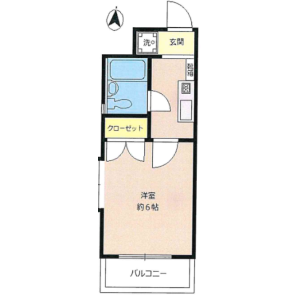 1K Mansion in Nishiochiai - Shinjuku-ku Floorplan