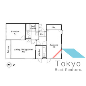2LDK Mansion in Higashinakano - Nakano-ku Floorplan