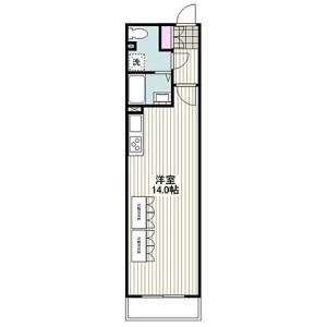 1K Mansion in Ogawacho - Kawasaki-shi Kawasaki-ku Floorplan
