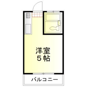 1R Apartment in Minamiotsuka - Kawagoe-shi Floorplan