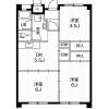 3DK Apartment to Rent in Ichinomiya-shi Floorplan
