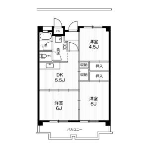 3DK Mansion in Okoshi - Ichinomiya-shi Floorplan