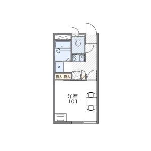 府中市府中町-1K公寓 房間格局