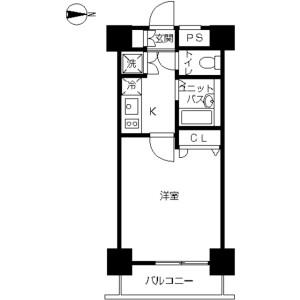 1K Mansion in Higashikanda - Chiyoda-ku Floorplan